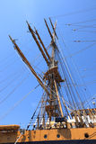 Ship mast against blue sky Stock Photos
