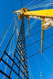Ship mast. Photo of tall ship mast and rigging royalty free stock images