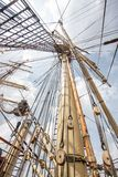 Ship mast. The mast of a sailing ship Stock Image