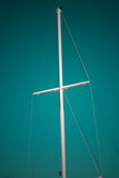 Ship mast on sea blue sky Royalty Free Stock Images