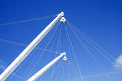 Ship masts with rigging Stock Photos