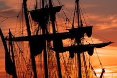 Ship masts and rigging Royalty Free Stock Photography