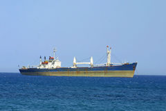 Ship in Mediterranean sea Royalty Free Stock Photography