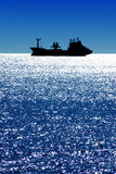 Ship on Mediterranean Sea. A ship on the deep blue Mediterranean sea Stock Photo