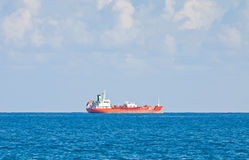 Ship in Mediterranean sea near Cyprus Stock Photography