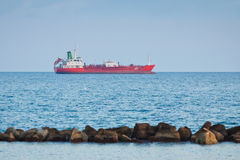 Ship in Mediterranean sea near Cyprus Stock Images