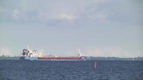 The ship over Baltic sea stock video