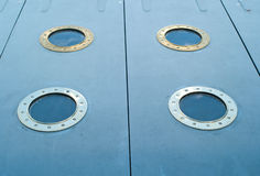 Ship metal windows Royalty Free Stock Images