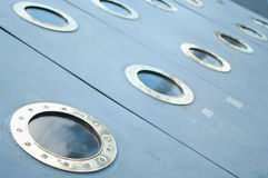 Ship metal windows Royalty Free Stock Photos