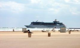 Ship at miami beach. Cruise royalty free stock image