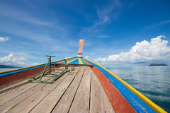 On ship mid sea in Ranong, Thailand Stock Photo