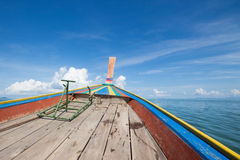 On ship mid sea in Rayong, Thailand Royalty Free Stock Images