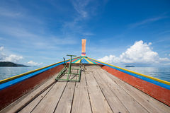 On ship mid sea in Rayong, Thailand Royalty Free Stock Photos