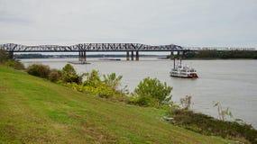 Ship on Mississippi river Stock Images