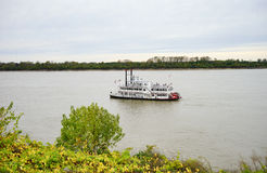 Ship on Mississippi river Stock Photo