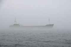 Ship in the mist royalty free stock photo