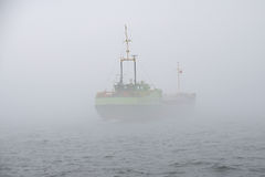 Ship in the mist Stock Photo