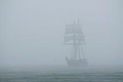 Ship in a mist Stock Photos