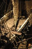Ship model. Model of cruise ship with cannons and sails Stock Photos