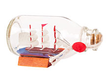 Ship model in a bottle Royalty Free Stock Photo