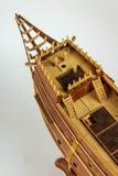 Ship model building in progress royalty free stock photos