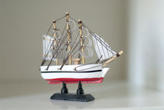 Ship modelo de madeira Fotografia de Stock Royalty Free