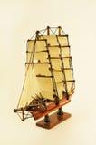 Ship modelo, podadoras, fondo del blanco de la barca Fotos de archivo