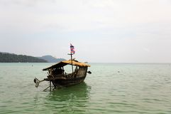 Ship of the Moken tribe Royalty Free Stock Image