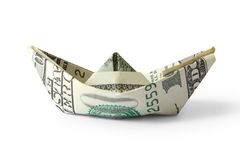 Ship from a money Stock Images