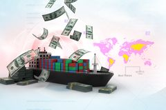 Ship and money Stock Photography