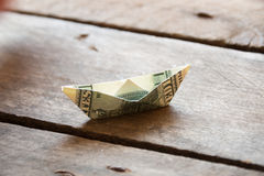 Ship with money Stock Images