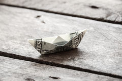 Ship with money Stock Photography