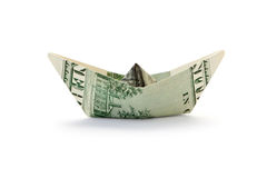Ship with money Royalty Free Stock Photography