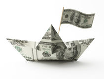 Ship from a money isolated on white Stock Photography
