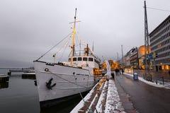 Ship moored in Helsinki Stock Photography