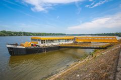 Free Ship Moored On Coast Of Danube Stock Photos - 118824883