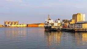 Ship moored in the Port of Kalmar Stock Photos
