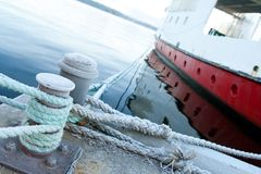 Ship moored at a quay Royalty Free Stock Photos