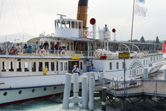 Ship mooring Royalty Free Stock Photography