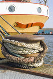 Ship mooring at port stock photos