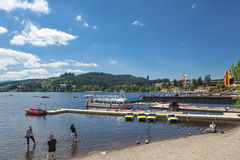The ship mooring in Titisee Neustadt Stock Photos