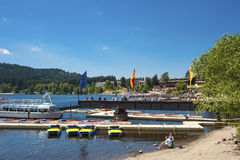 The ship mooring in Titisee Neustadt Stock Photography