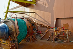 Ship mooring winches Royalty Free Stock Images