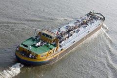 Ship moving to harbor royalty free stock photo