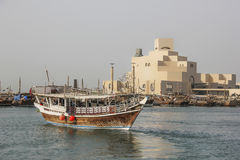 Ship and Museum of Islamic Art in Doha Stock Photos