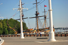Ship Museum in Voronezh, Russia. Goto Predestinatsia (Gods Predestination, literally The Providence of God) was a Russian 18th century navy flagship, 58-gun Stock Images