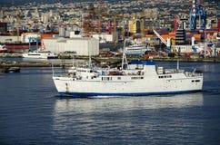 Ship in Naples port Stock Photo