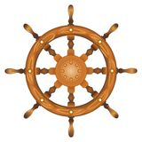 Ship navy wheel isolated Royalty Free Stock Images