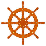 Ship navy wheel isolated Stock Image