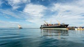 Ship near the shore of Zanzibar Stock Photos